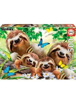 Puzzle 500 piezas selfies Familia de perezosos