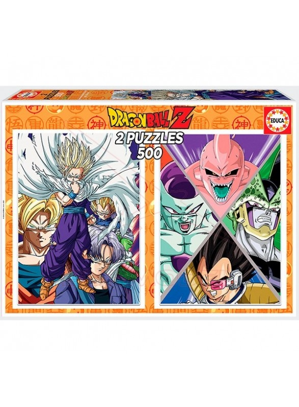 Pack 2 puzzles Dragon Ball 500 piezas
