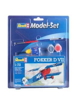 Maqueta avión Model Set Fokker D VII 1:72