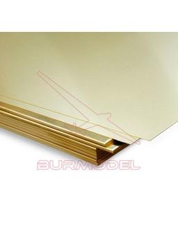 Plancha de latón 400 x 200 x 0,3 mm