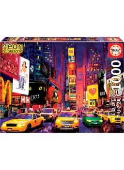 Puzzle Neon 1000 piezas Times Square, Nueva York