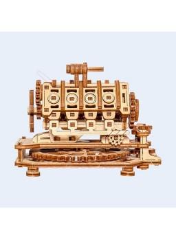 Maqueta de madera motor V8