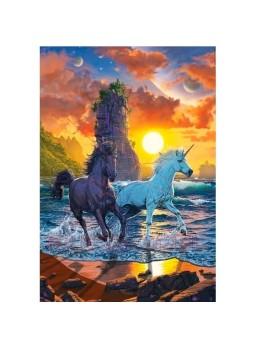 Puzzle 1000 piezas Unicornios en la playa