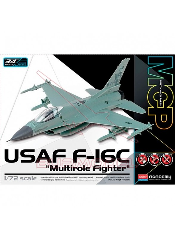 "Maqueta avión USAF F-16C ""Multirole Fighter"" 1:72"