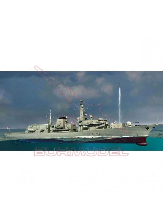 Maqueta barco HMS Frigate AI Kent 1/350