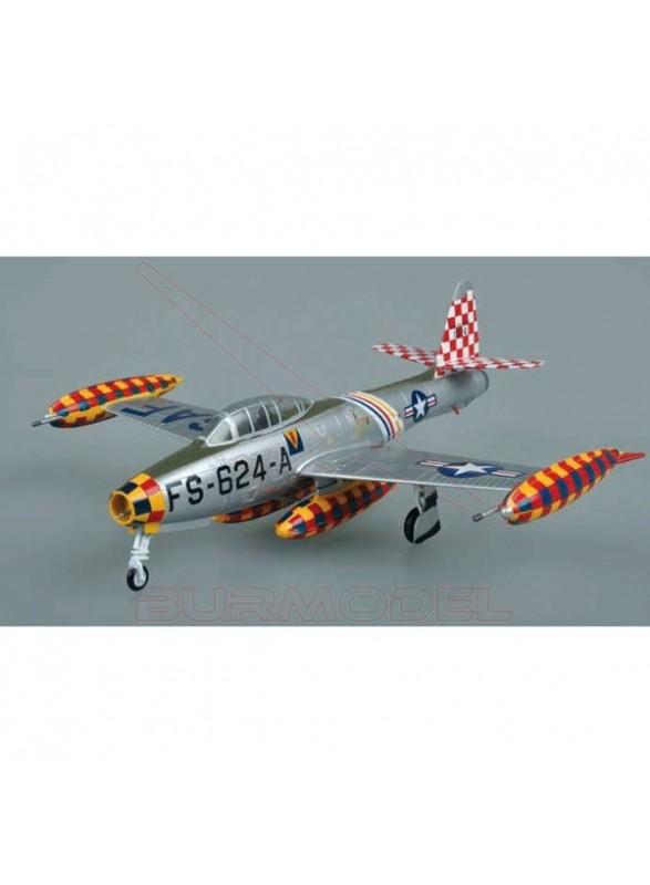 Maqueta montada avión F-84E 1/72