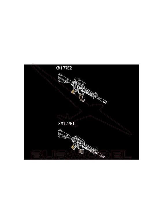 Maqueta armas AR-15/M16/M4 Fam. XM177 1:35