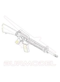Maqueta armas AR15/M16/M4 Fam. M16A2