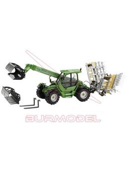 Maqueta tractor c/ acces. Merlo+Josin 1:32 Ros