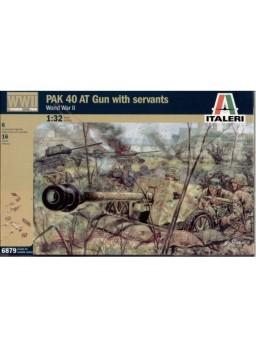 Maqueta Cañón alemán con artilleros 1:32