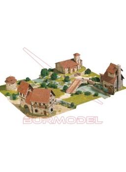 Conjunto rural con cuatro modelos.