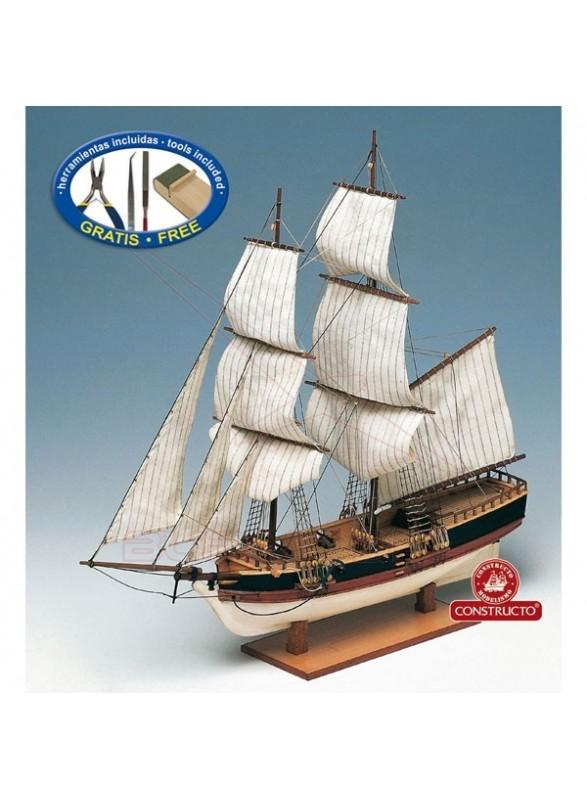 Barco de madera Union. Escala 1/100