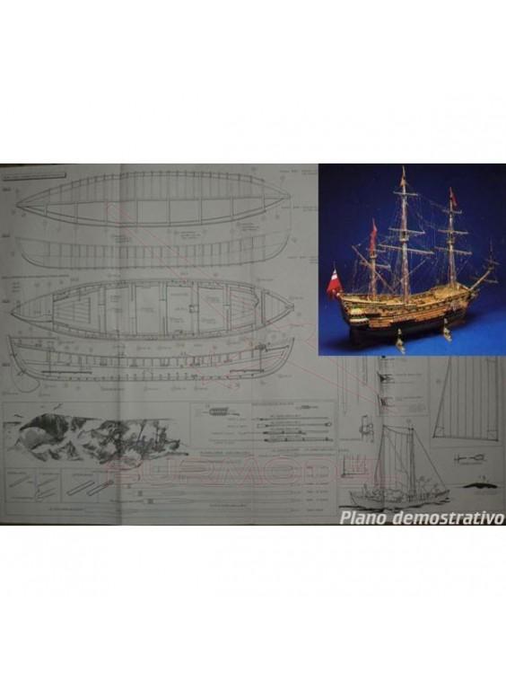Planos de construcción H.M.S. Prince