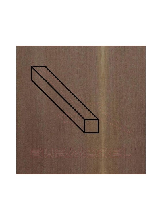 Paquete listón nogal 1.5 x 7 mm (4 unidades)