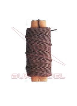 Hilo marrón de algodón 0.75 mm (10 m)