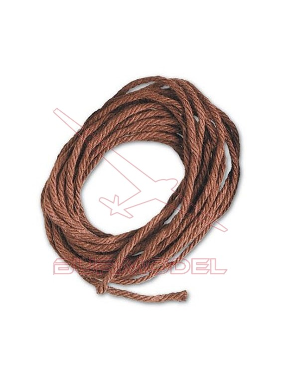 Hilo marrón de algodón 2 mm (5 m)
