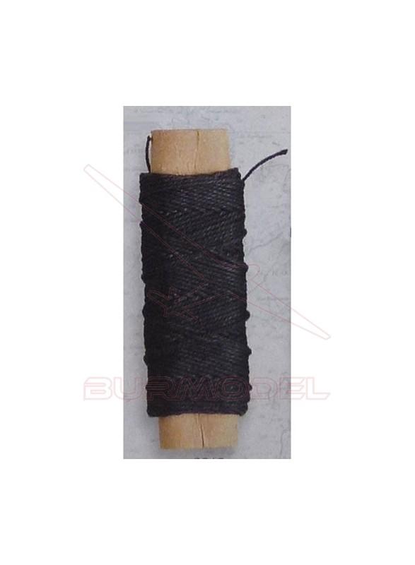 Hilo negro de algodón 0.50 mm (20 m)