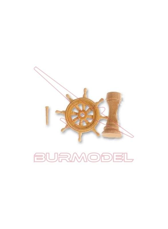 Conjunto rueda timón 20 mm