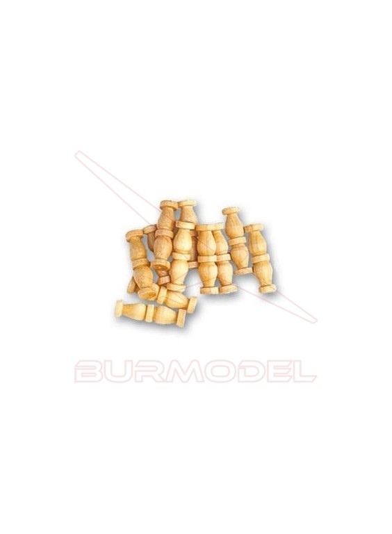 Doble columna de boj 12 mm (15 unidades)