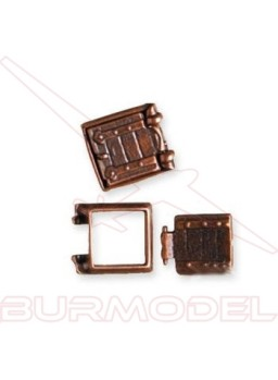 Marco tronera con porta 13 x 13 mm (2 unidades)