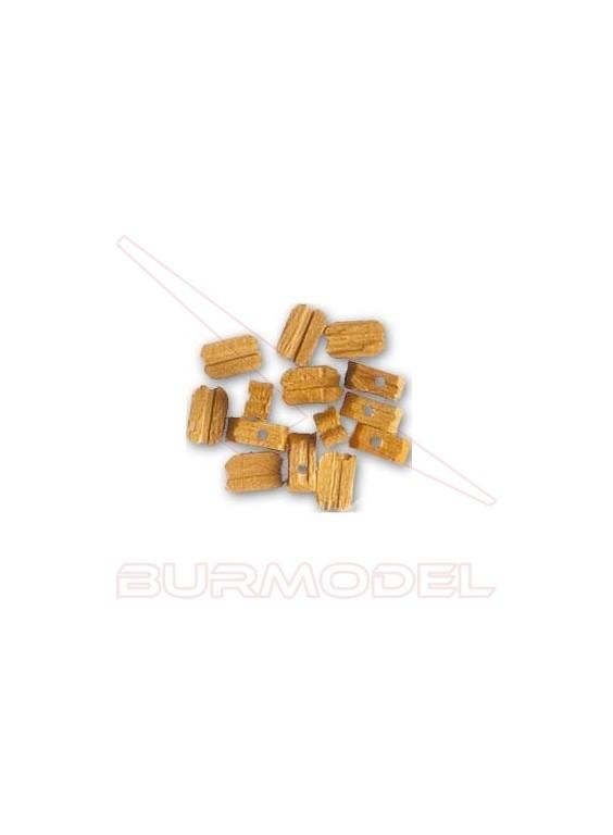 Motón de boj 7 mm (15 unidades)