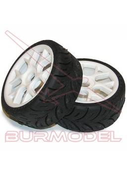 Neumático con llanta rally game blando 1:8