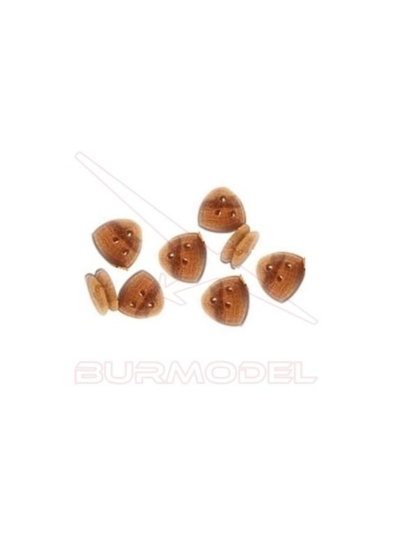 Vigota triangular 7 mm (8 unidades)
