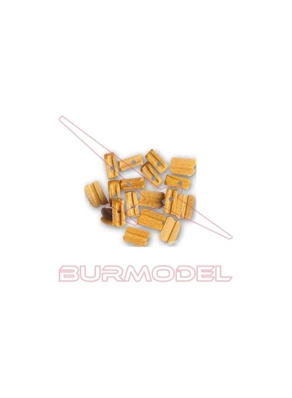Motón de Boj 6 mm (18 unidades)