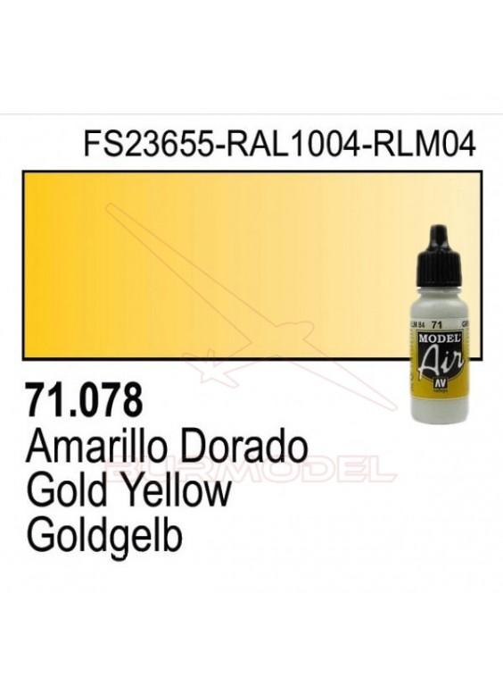 Pintura Vallejo Amarillo dorado 078