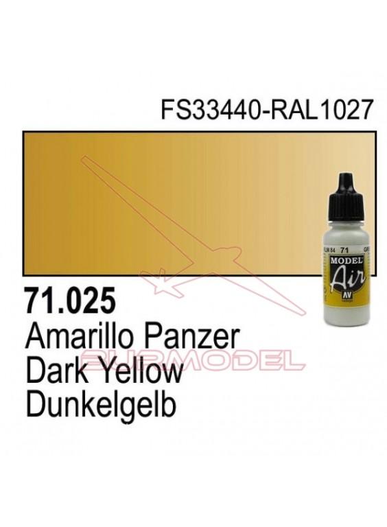 Pintura Vallejo Amarillo Panzer 025
