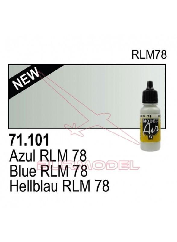 Pintura Vallejo Azul RLM 78 101