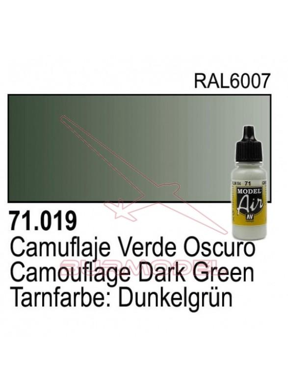 Pintura Vallejo Cam. Verde oscuro 019