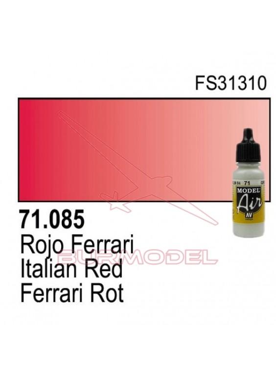 Pintura Vallejo Rojo Ferrari 085