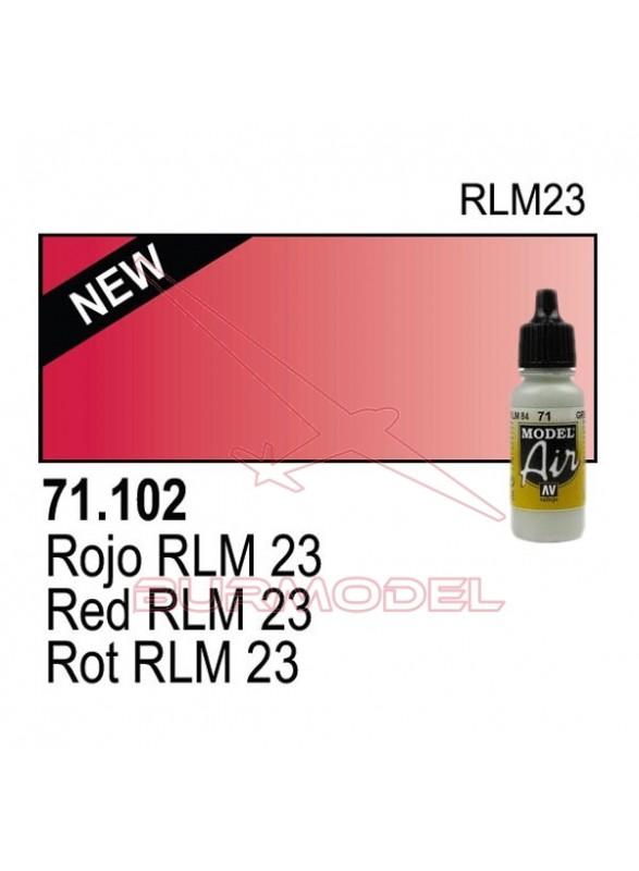 Pintura Vallejo Rojo RLM 23 102