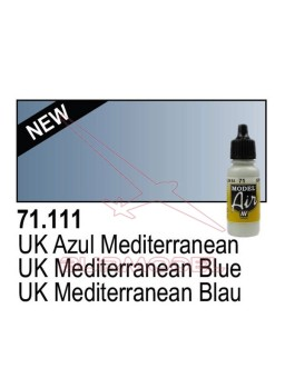 Pintura Vallejo UK Azul mediterraneo 111