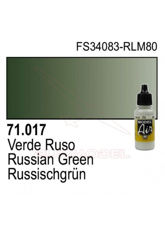 Pintura Vallejo Verde ruso 4BO 017