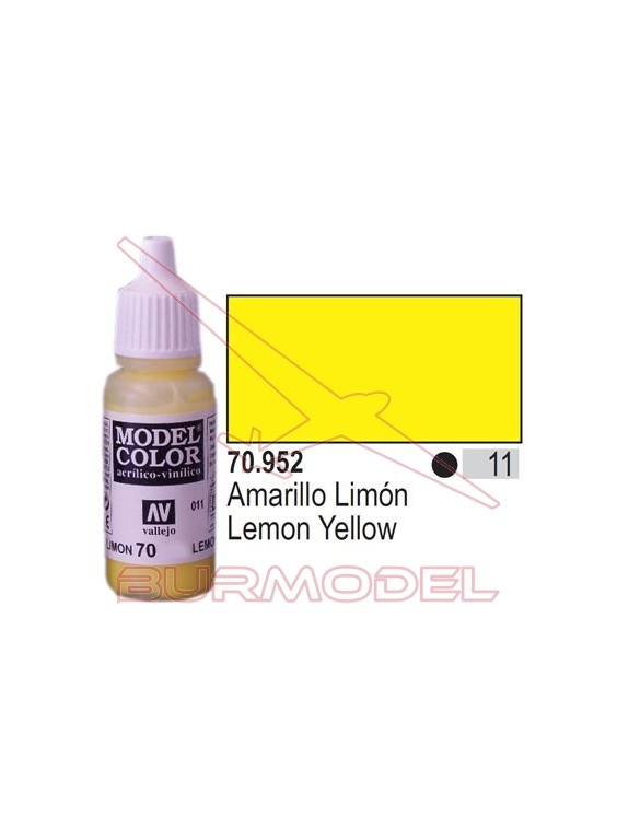 Pintura Amarillo limón 952 Model Color (011)