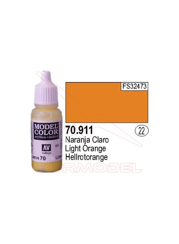 Pintura Naranja claro 911 Model Color (022)