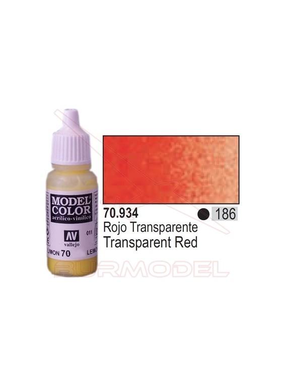 Pintura Rojo transparente 934 Model Color (186)