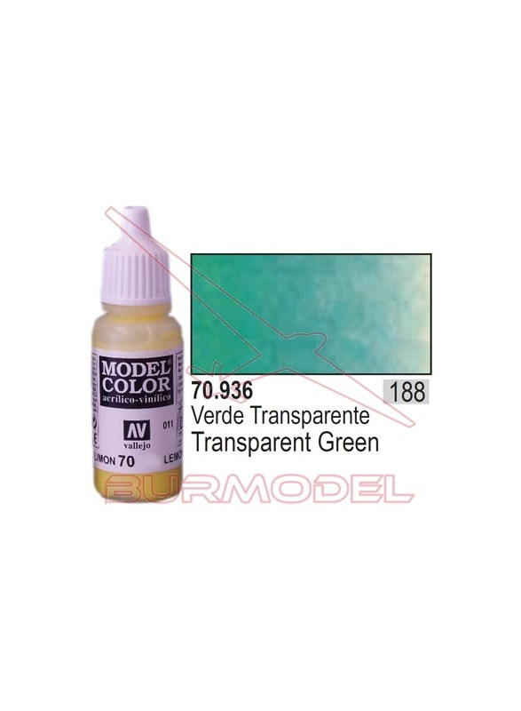 Pintura Verde transparente 936 Model Color (188)