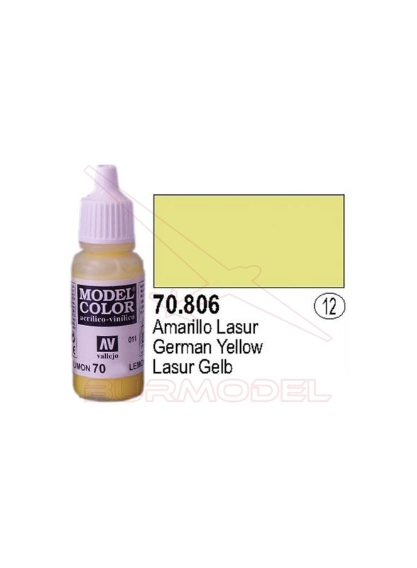 Pintura Amarillo lasur 806 Model Color (012)