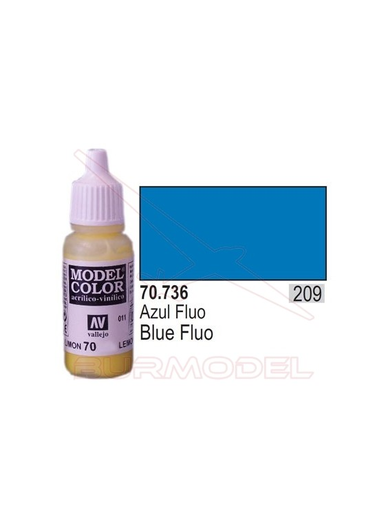 Pintura Azul fluorescente 736 Model Color (209)