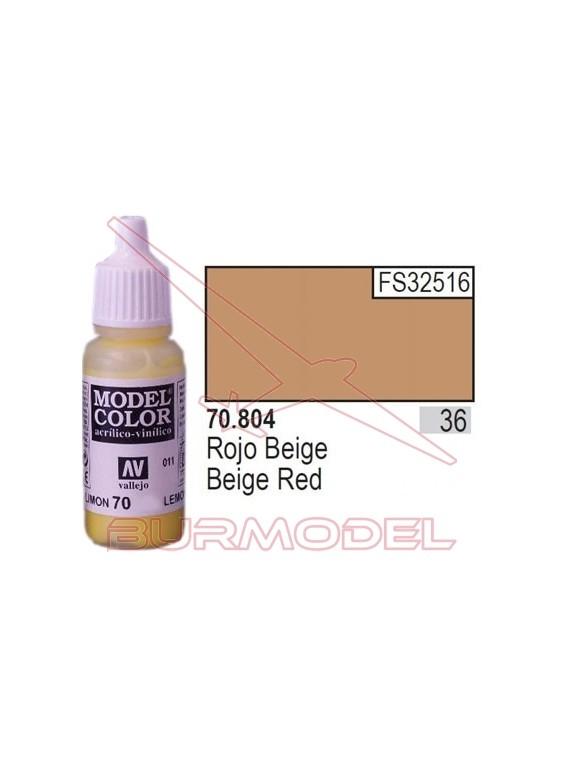 Pintura Rojo beige 804 Model Color (036)