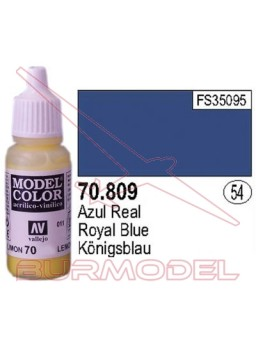Pintura Azul real 809 Model Color (054)