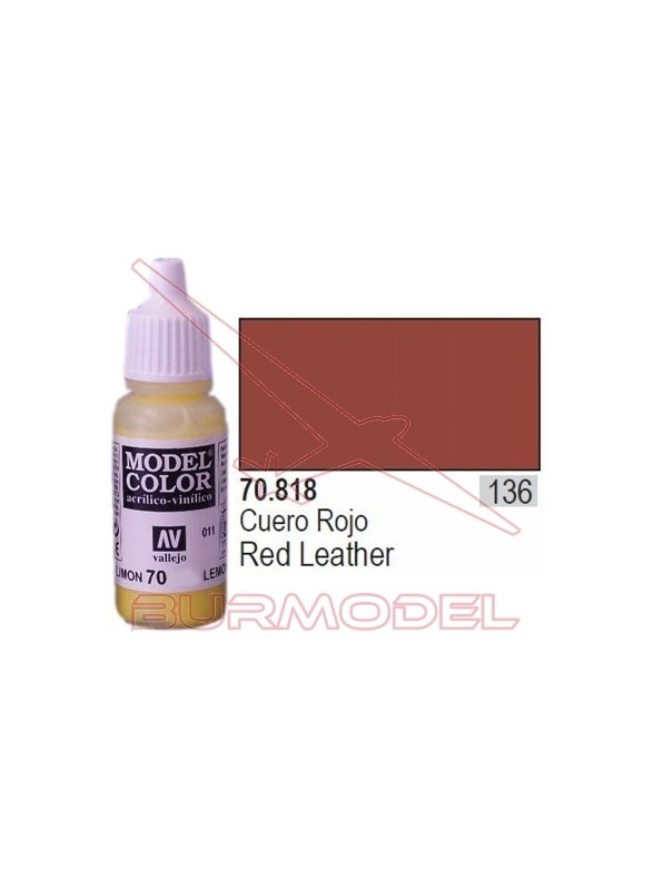 Pintura Cuero rojo 818 Model Color (136)