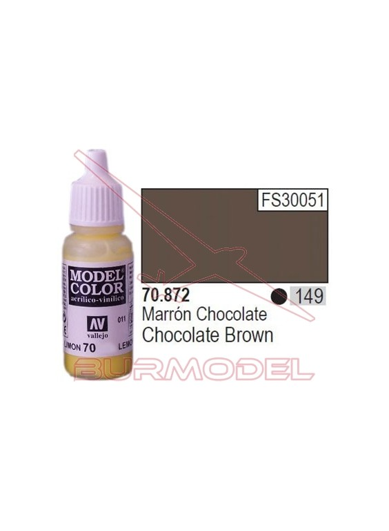 Pintura Marrón chocolate 872 Model Color (149)