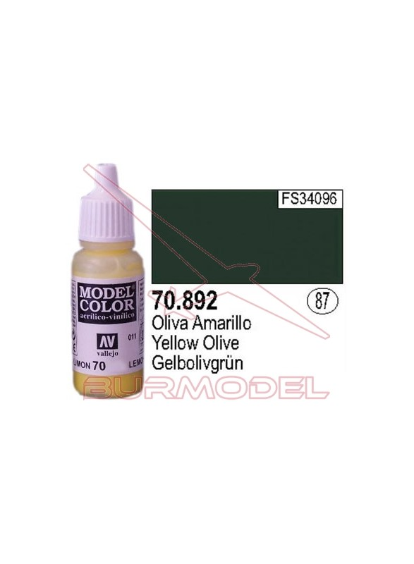 Pintura Oliva amarillo 892 Model Color (087)