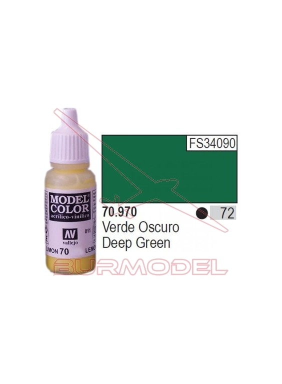 Pintura Verde oscuro 970 Model Color (072)