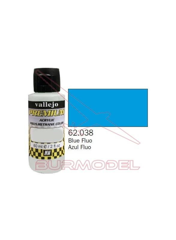 Pintura Premium Vallejo Azul Fluorescente