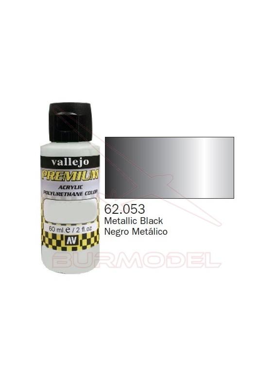 Pintura Premium Vallejo Negro metálico